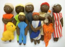 Família com bichinhos - Negra